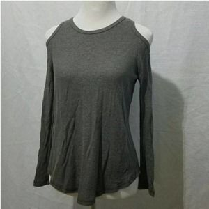 DYI Women's Small Cold Shoulder Gray Top